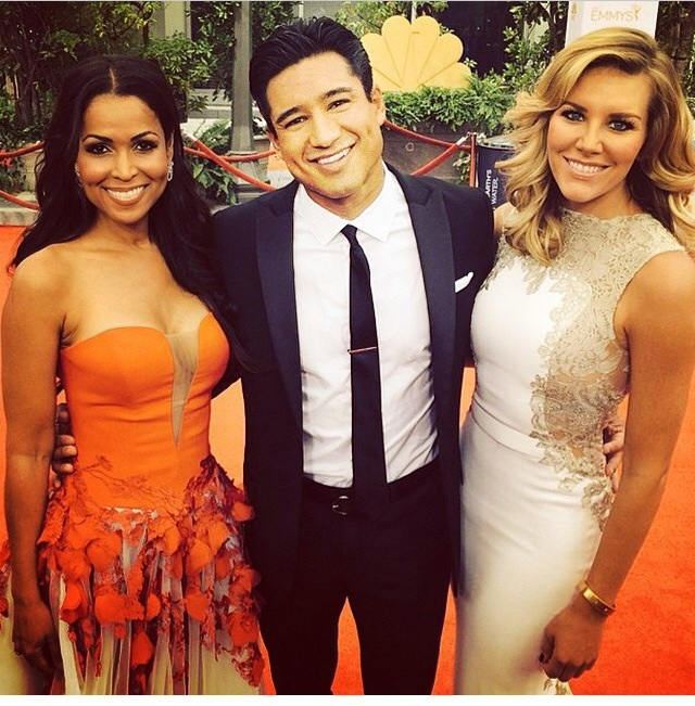 Charissa Thompson and Tracey Edmonds